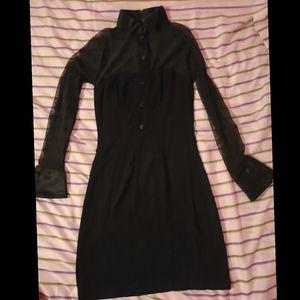 Vintage all black Wendy Adam's dress